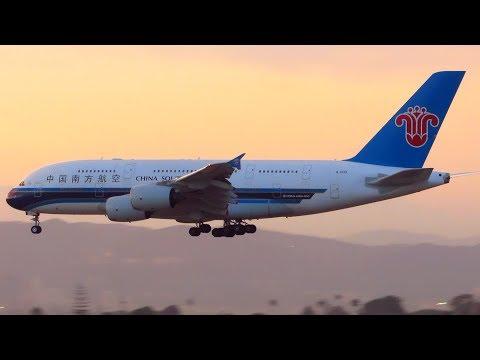 CHINA SOUTHERN Airbus A380 [B-6139] Landing at Los Angeles LAX Airport | 2017 [Full HD]