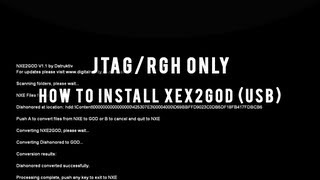 JTAG/RGH Tutorials - How to Install and Use XEX2GOD (USB + Download)