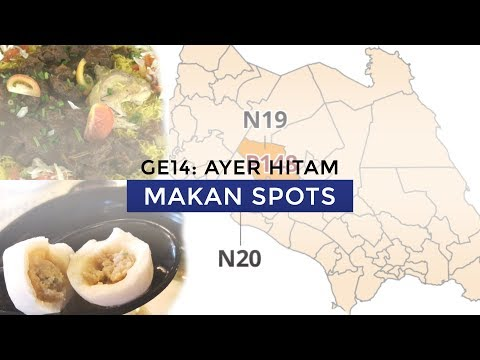GE14 candidates' favourite makan spots in Ayer Hitam
