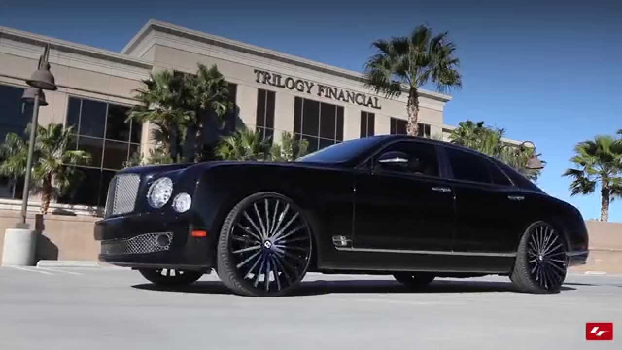 Bentley Mulsanne On Custom 24 Quot Lz 722 Lexani Wheels Youtube
