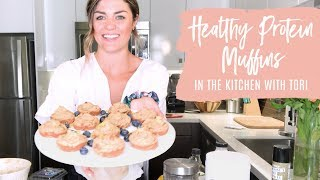 Healthy Lemon Protein Muffin Recipe | In The Kitchen With Tori!