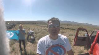 Get US out of the United Nations: shooting UN and China flag in Mohave County AZ