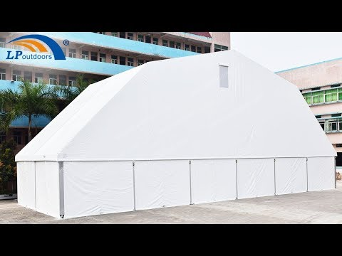 30m Polygon Roof Sports Music Festival Party Tent Installation