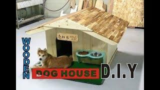 WOODEN DOG HOUSE  원목강아지 집 만들기 …