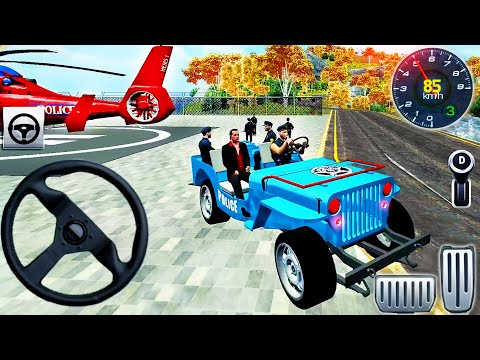Offroad Police Prisoner Transport Driver - Police Cargo Helicopter Simulator - Android GamePlay