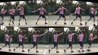 Теннис. Удар справа.   Фрагмент 5/1 части урока.