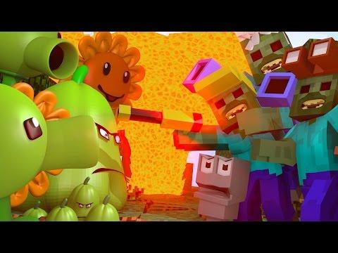 Plants vs Zombies Mafia - Detectives Raid Plant Factory! (Minecraft Roleplay) #2