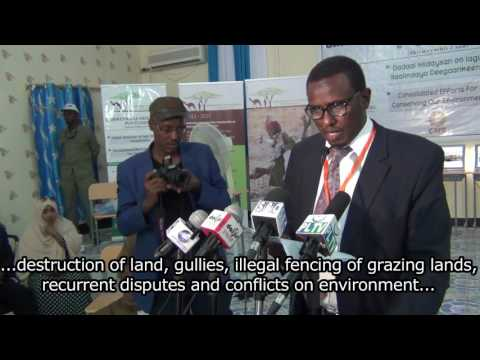 Puntland Environmental Conference held in Garowe Supported by NRM proejct April 2017
