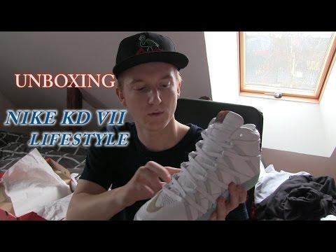 Unboxing - NIKE KD VII LIFESTYLE (WHITE / ICE BLUE)