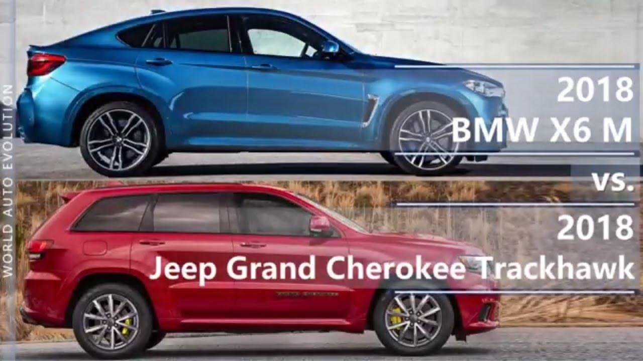 2018 Bmw X6 M Vs 2018 Jeep Grand Cherokee Trackhawk Technical Comparison