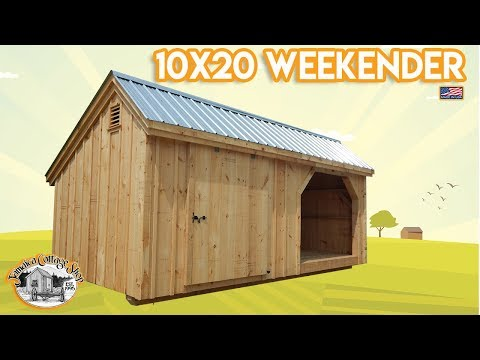 """The Weekender"" - 4X8 To 12X20 - Equipment Shed & Firewood Shed In One Building - DIY Pre Cut Kit"