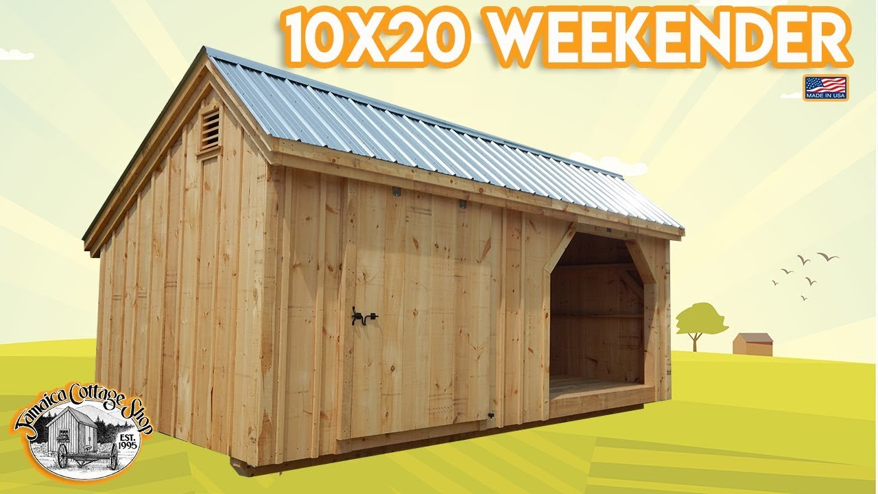 DIY - Easily Build this Equipment & Wood Shed Yourself (Pre Cut Kit Or  Fully Assembled)