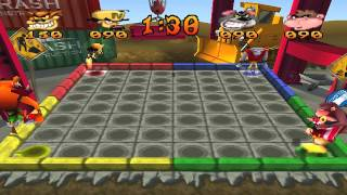 Crash Bash Walkthrough Part 6 HD 200% Warp Room 2 (Pogo a Gogo)