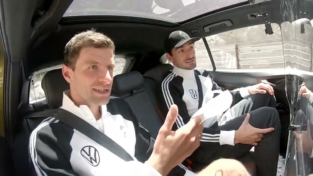 EM-Taxi mit Thomas und Mats