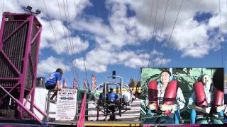 A ride on the Sling Shot at the Calgary Stampede