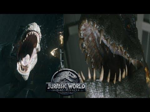 New Indoraptor Scenes + Mosasaurus Submarine Attack | JWFK Final Trailer Breakdown