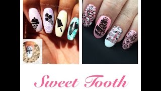 sweet tooth pastel ice cream stamping nail art   dixiegirlxox collab