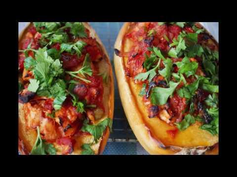 Spaghetti Squash Boats - Gluten Free, Dairy Free, Paleo Recipe