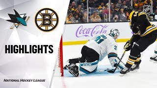NHL Highlights | Sharks @ Bruins 10/29/19