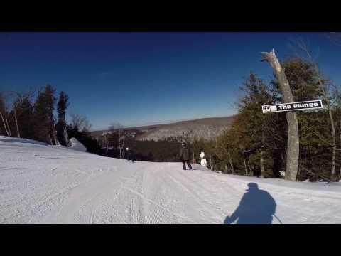 The Plunge on Moose Mountain at Lutsen 3-8-2014