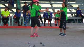 19th AUG 2018 Petanque Women's Triple Final CAMBODIA Vs LAOS