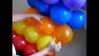 Радуга из воздушных шаров- изготовление