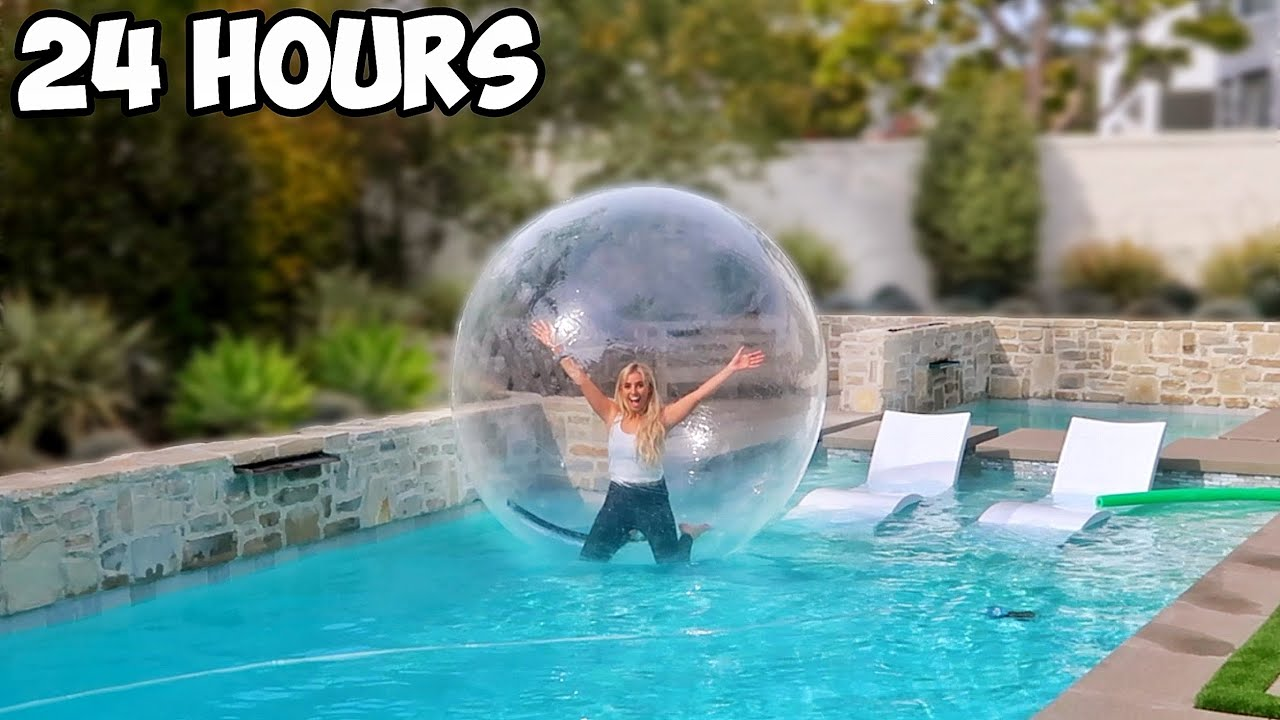 Download LIVING IN A BUBBLE FOR 24 HOURS!!!