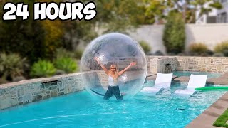 LIVING IN A BUBBLE FOR 24 HOURS!!!