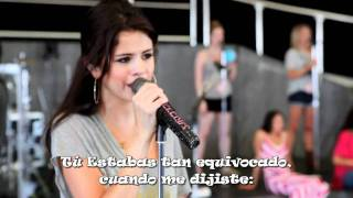 Selena Gomez & The Scene - Middle of nowhere Traducido al español