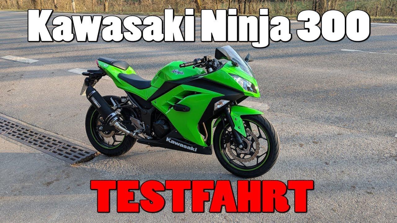 Kawasaki Ninja 300 Test Topspeed 0 100 Kmh Walkaround Youtube