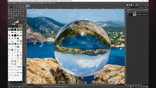 GIMP - Glaskugel im Bild drehen