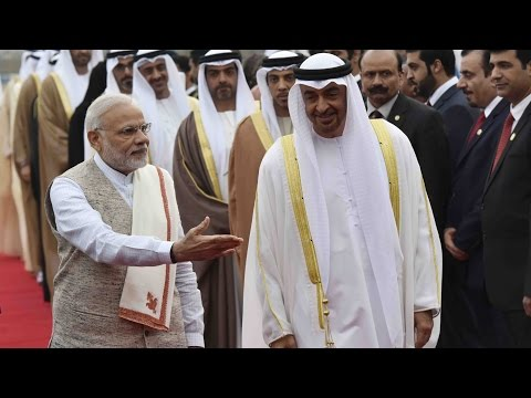 Abu Dhabi Crown Prince Mohammed bin Zayed Al Nahyan visits India