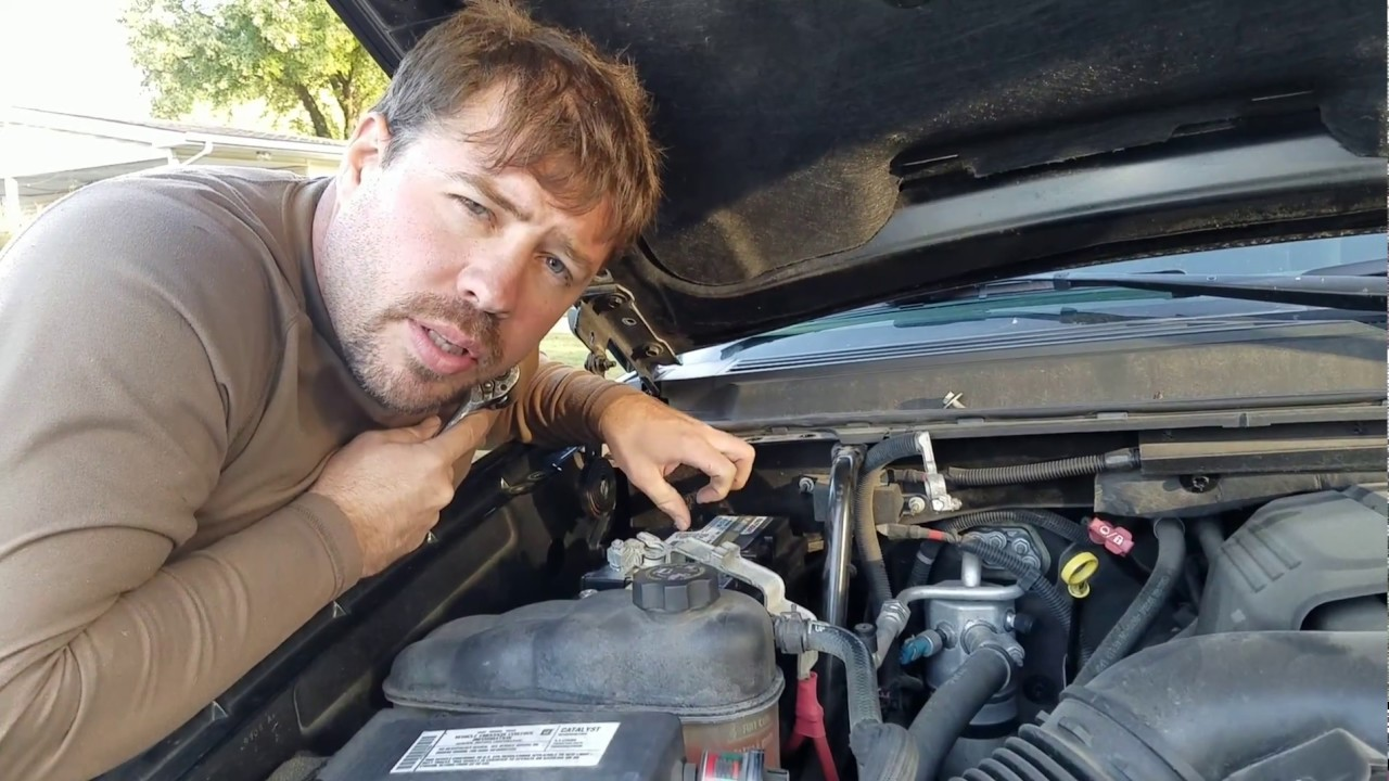 avalanche chevy battery 2007 tahoe suburban installing