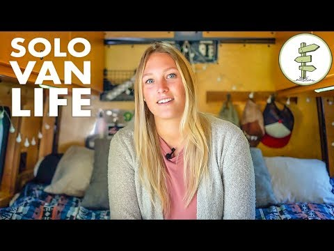 Van Life - Solo Woman Living & Working in an Epic Sprinter Van Conversion