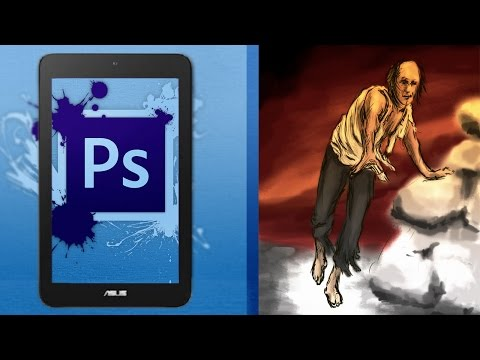 Asus Vivotab Note 8 \ Speed Painting with Photoshop