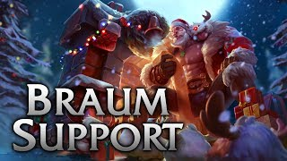 Santa Braum Support - League of Legends Commentary with J1VHD