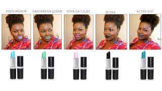 Milan Rowe Intense Color Lipstick Collection Review with Application