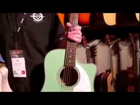 Kraft Music Fender Sonoran Sce Surf Green Shell Pink Acoustic Guitars Namm 2014 Youtube