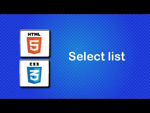 HTML5 and CSS3 Beginner Tutorial 43 - select list - YouTube