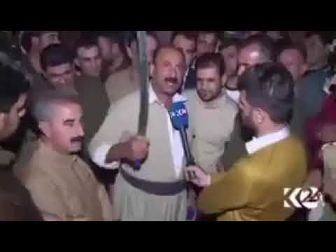 كردي يهدد القوات العراقية بقطع الرأس.. ماذا لو كان لدى البشمركة الأكراد سلاحاً كيمياوياً ؟!