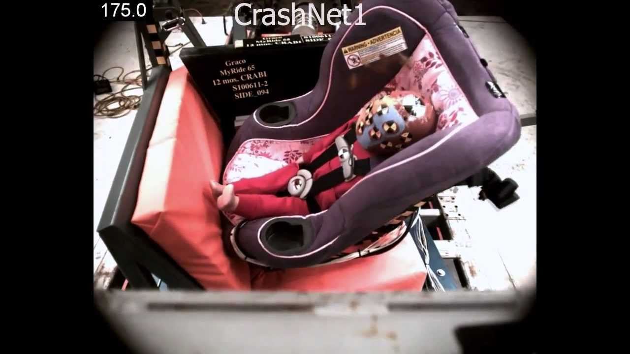 Baby Car Seat Test Child Seat Crash Test Graco My Ride 65 Convertible Car Seat Rear Facing Side Impact Test