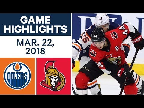NHL Game Highlights | Oilers vs. Senators - Mar. 22, 2018