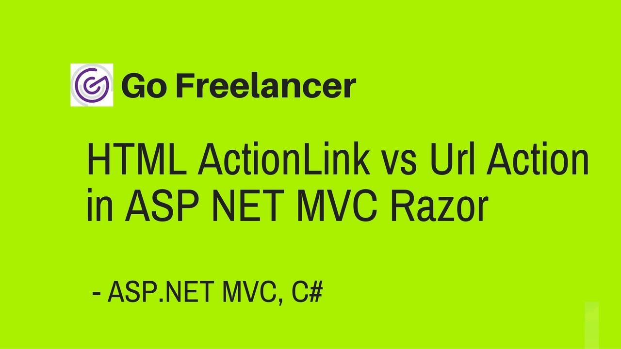 HTML ActionLink vs Url Action in ASP NET MVC Razor