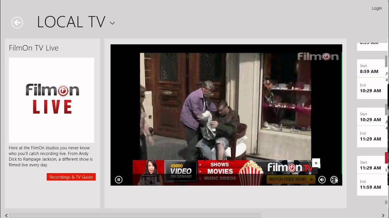 free tv app for windows 8.1