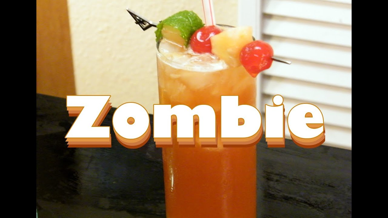 How to make a zombie cocktail youtube for Cocktail zombie