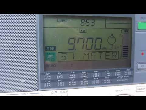 VATICAN RADIO [SANTA MARIA DI GALERIA, 250 KW] — 9700 KHZ — [26 NOV. 2017 19.52 UTC]