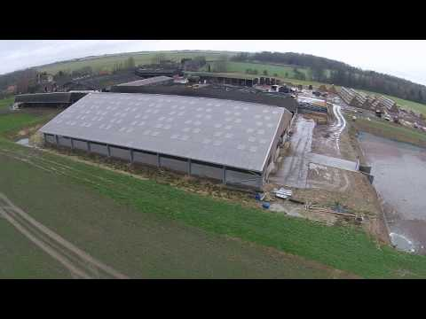 A brand new cubicle building for a large dairy herd in Lincolnshire, UK