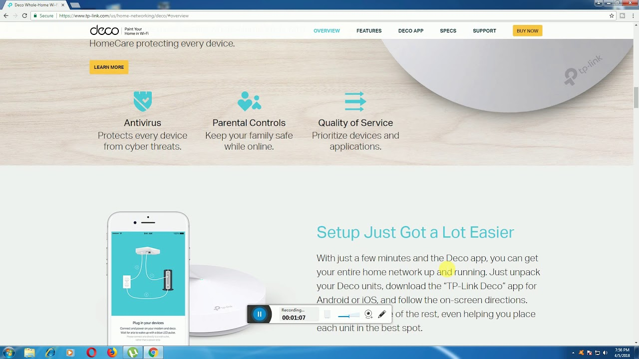 TP-Link Deco M5 Most Secure Whole-Home Mesh Wi-Fi System