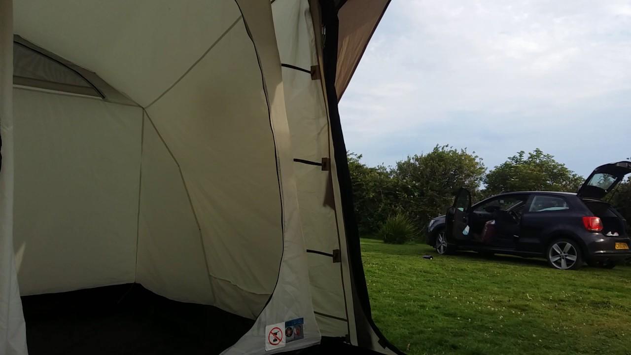 Coleman MacKenzie Cabin X4 4 Man Tent Interior and Exterior & Coleman MacKenzie Cabin X4 4 Man Tent Interior and Exterior - YouTube