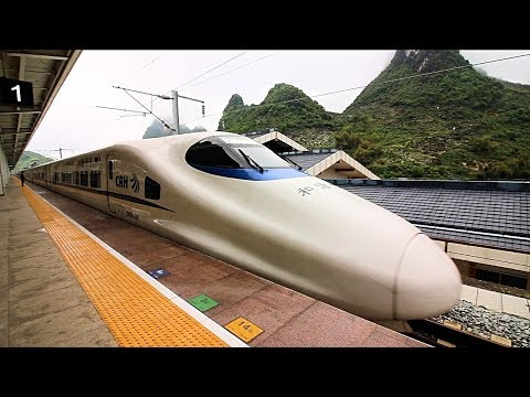 China High Speed Rail (CRH) REVIEW – Over 300kmh | Amazing Bullet Train + Street Food